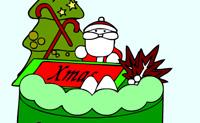 Раскраска Рождественский Торт
