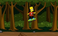 Skateur Bart dans les bois