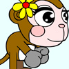 Color the monkey with flower Games