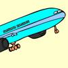 Farvelæg flyet Spil
