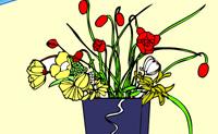 Colorea las flores de la abuela