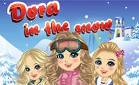 Sporturi de iarnă cu Dora