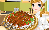 Tessa fait un chiche-kebab