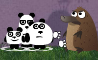 Drie panda's 2