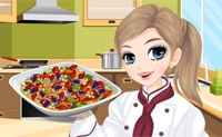Tessa's cooking Ratatouille