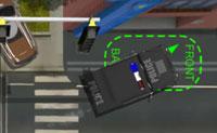 Hummer-Polizeiwagen: Einparken