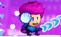 Kampioen sneeuwballen gooien