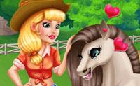 Audrey: cuida su poni