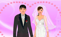 Bruidspaar aankleden