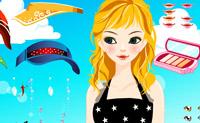 Enfeitar menina de praia 1
