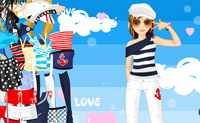 Vestir chica marinera