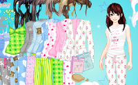 Mädchen im Schlafanzug zurechtmachen