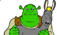 Kolorowanie Shrek