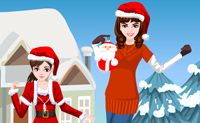 Chica navideña