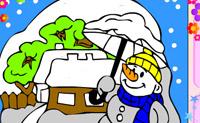 Kolorowanki Zima 2