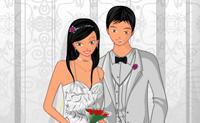 Bruidspaar aankleden 3