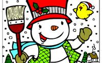 Kolorowanki Zima 3
