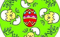 Lámina para colorear Pascua 3