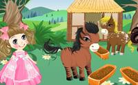Princesse et poneys