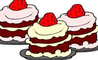 Ausmalbild Kuchen