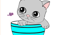 Online Kleuren Kat