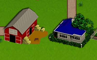 Bauernhöfe und Wege