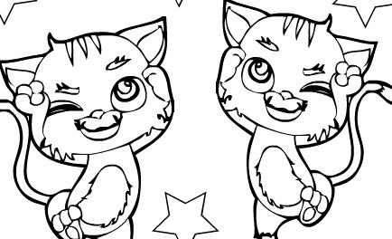 Boyama Resmi Kediler Bedava Boyama Resmi Kediler Oyunlari Burada