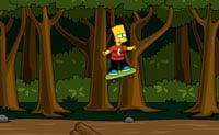 Skater Bart na floresta