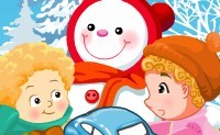 Baby's in de sneeuw