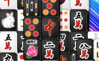 Schwarz-weiß Mahjong