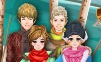 Amici e moda invernale
