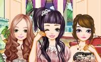 Raparigas de cabelo comprido