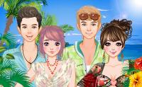 Vrienden in de zon