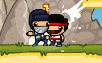 Kampf in den Bergen