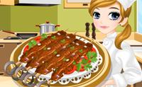 Fazendo kebab