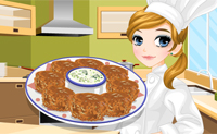 Fazendo falafel