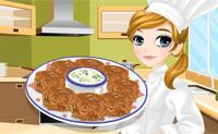 Tessa hace falafel