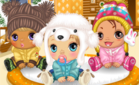Bebeluși pe timp de iarnă