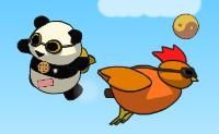 O Panda à procura de bolinhos