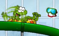 Frosch im Schwimmbad