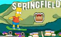 Bart en monopatín por la ciudad