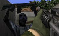 Treino militar: atirador