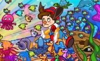 Zoek lieve Pinokkio