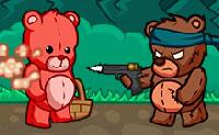 Urso malvado no picnic