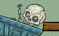 Knochen begraben