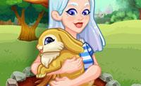 Crystal adoptiert ein Häschen