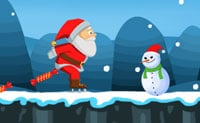 Kerstman op Schaatsen